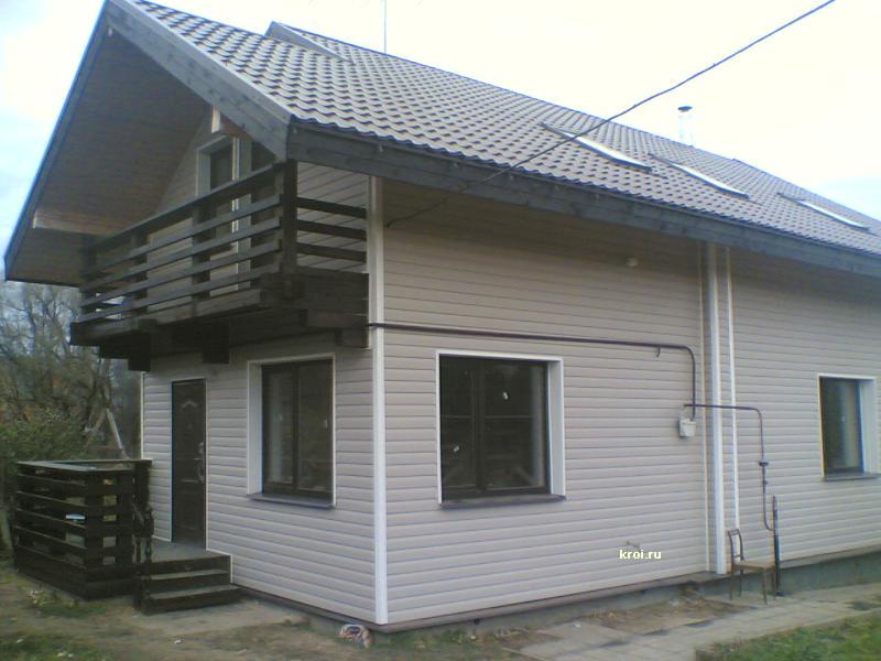 Фасад крыши отделка фото 1