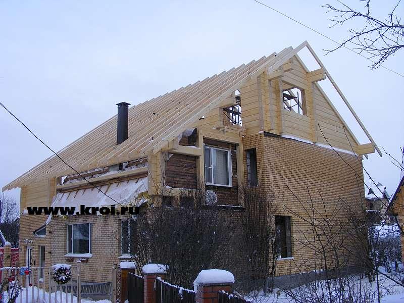 Фото большой двускатной крыши с утеплением. кровля metroroma.