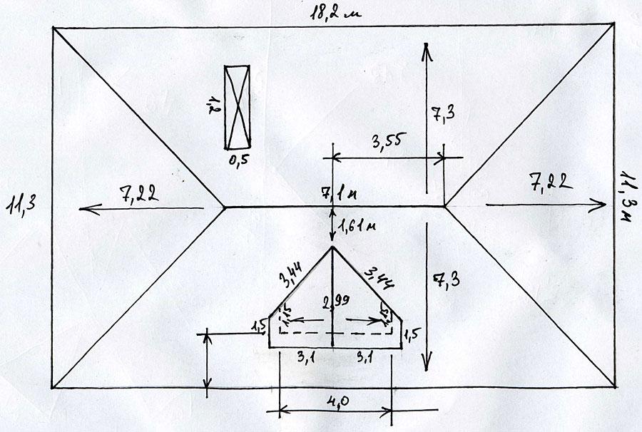 Крыша конвертом своими руками схемы шаблоны 22