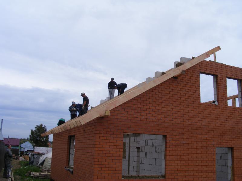 Крыша дома с нуля